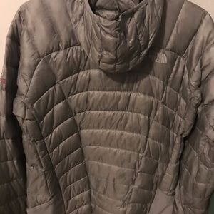 Women's North Face feathered down jacket